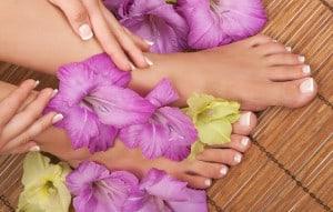 Fusspflege mit Orchidee klein