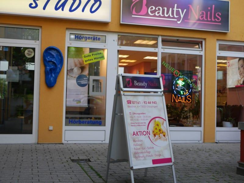 Nagelstudio Beautynails in Göppingen aussen Eingang